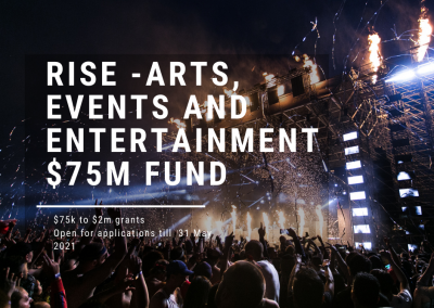 RISE $75m Events, Arts and Entertainment Fund