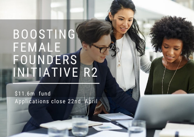 Boosting Female Founders Initiative Round 2 – now open