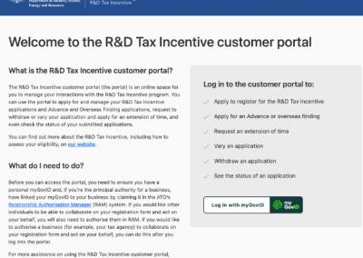 R&D Tax Incentive FY21 open for applications  – new registration portal