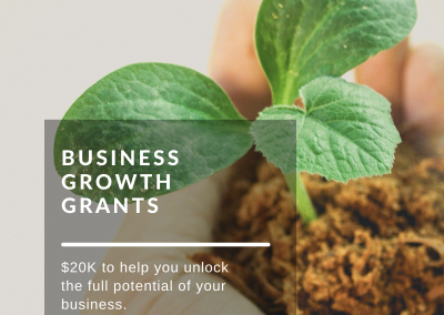 Access up to $20K Grant for your business improvement projects