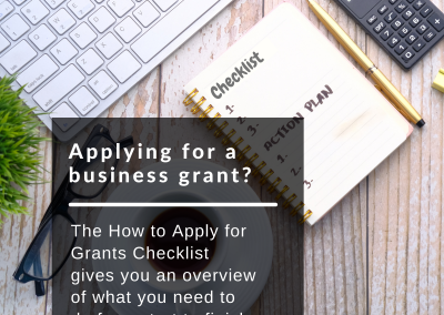 How to apply for a business grant – Checklist