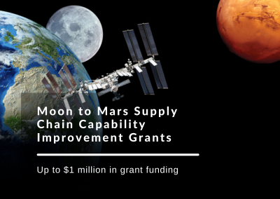 Moon to Mars Supply Chain Capability Improvement Grants are open